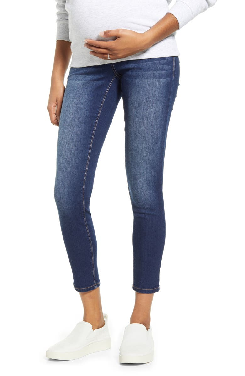 1822 DENIM Re:Denim Ankle Skinny Maternity Jeans, Main, color, ZIGGY