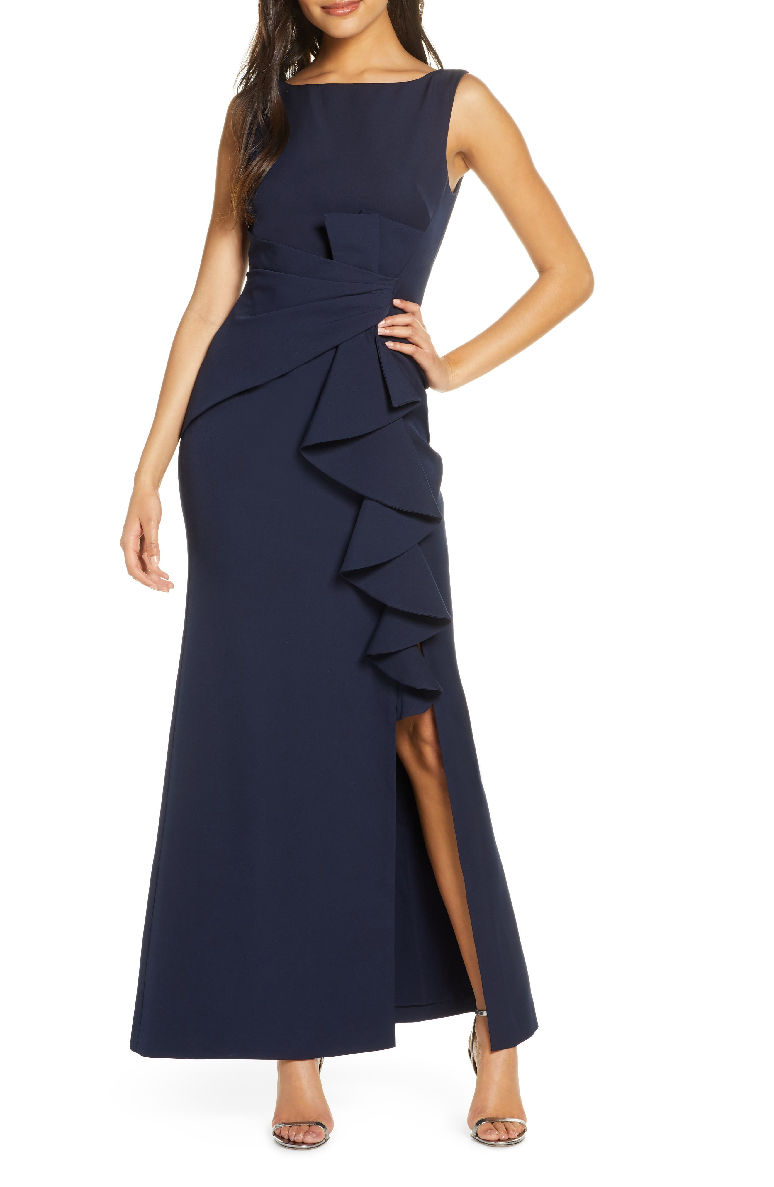 Ruffle Front Gown