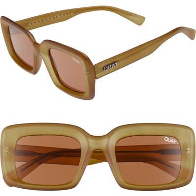 Quay Australia Going Solo Square Sunglasses - Olive/ Brown