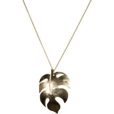 Nashelle Boho Fern Pendant Necklace