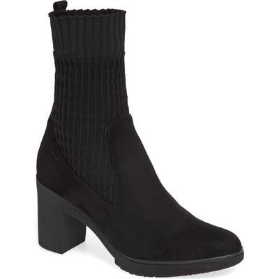 Wonders Heeled Knit Bootie - Black