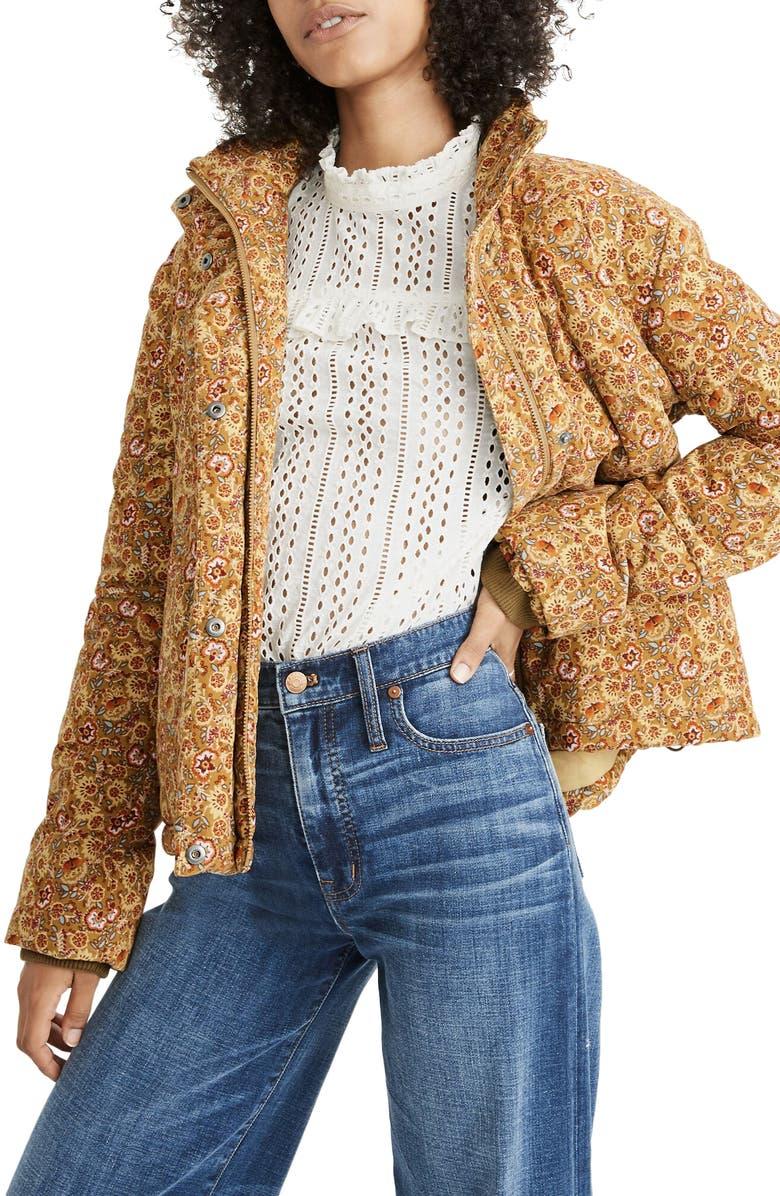 MADEWELL Corduroy Puffer Jacket, Main, color, 700