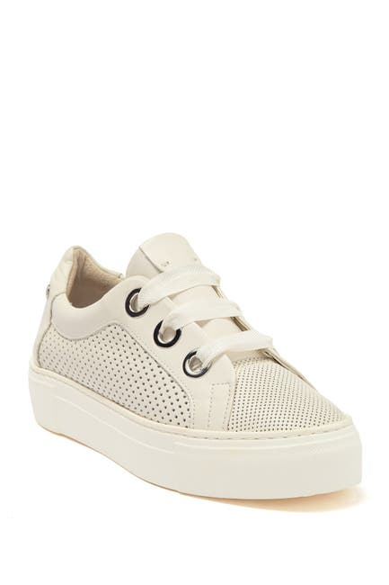 Image of AGL Perforated Leather Platform Sneaker