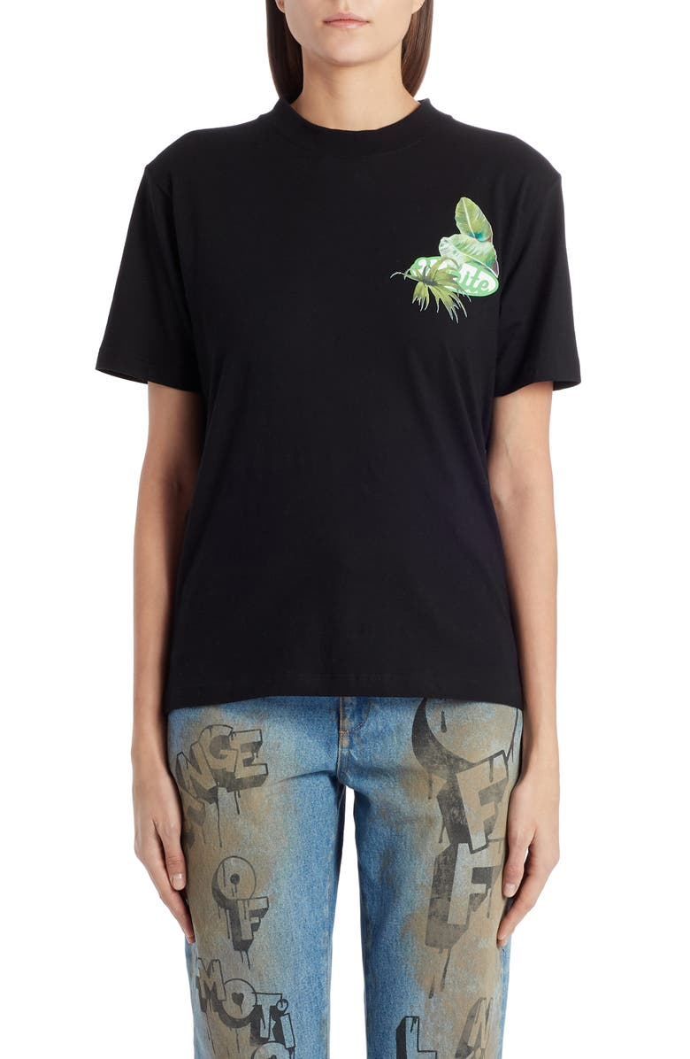 OFF-WHITE Racing Tee, Main, color, BLACK GREEN