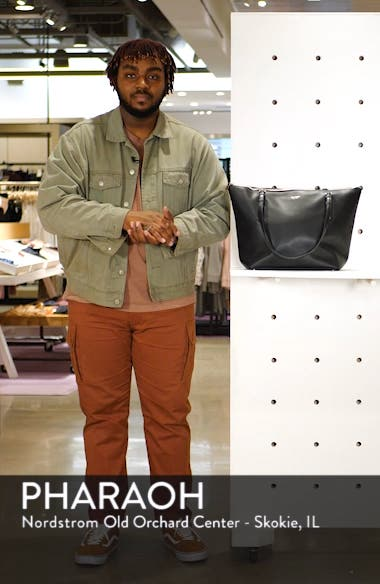 large polly leather tote, sales video thumbnail