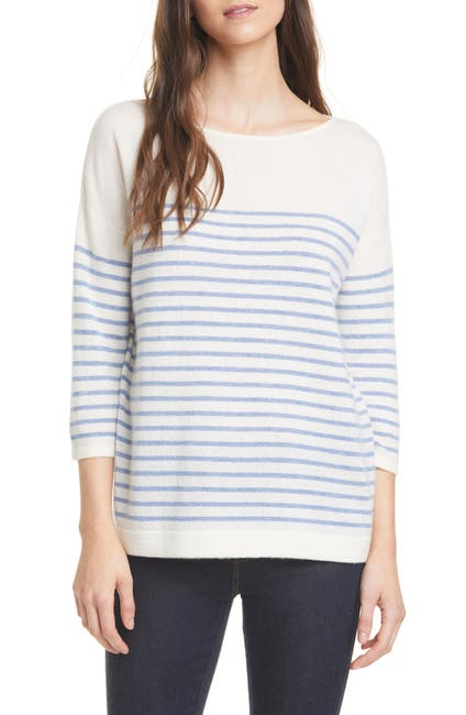 Image of Nordstrom Signature Stripe Cashmere Sweater