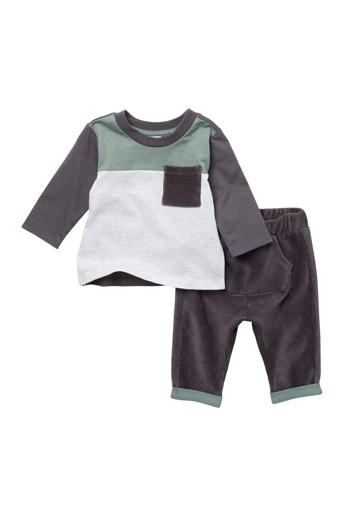 Edjude Baby Boys Clothing Sets Hoodie Top T-Shirt Long Sleeve Pants Sets Autumn Clothes 2 Piece Toddler Outfits 0-3 Years