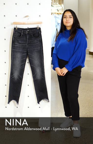 W3 Chewed Hem Ankle Straight Jeans, sales video thumbnail