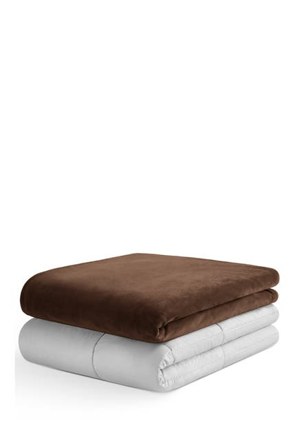 Image of IENJOY HOME Weighted 12lbs Blanket - Chocolate