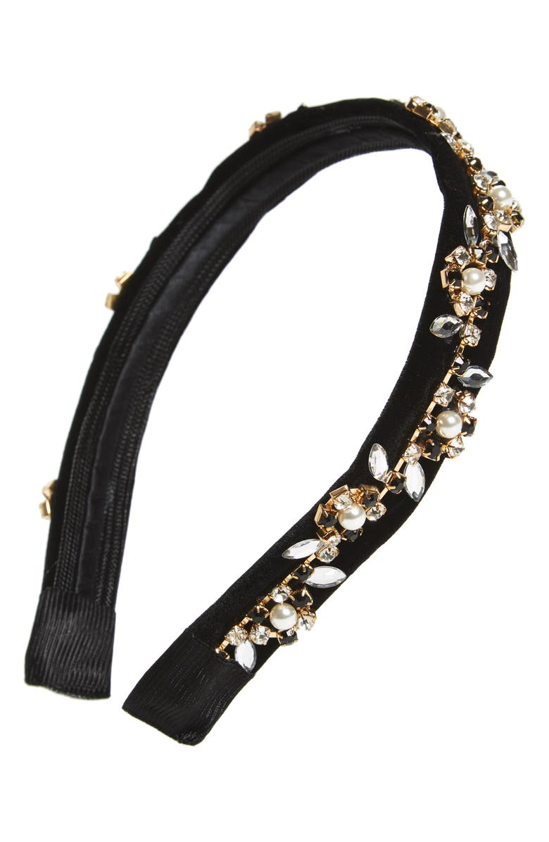 CARA Velvet Headband, Main, color, 001