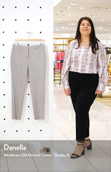 Treeca 2 Houndstooth Check Stretch Wool Trousers, sales video thumbnail