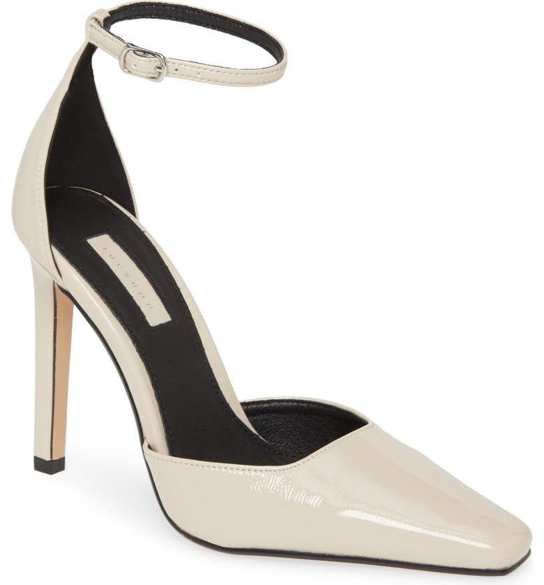 TOPSHOP Gloria Glitter Stiletto Pump, Main, color, CREAM