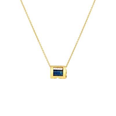 Conges Protection & Awareness Lapis Lazuli Initial Barrel Pendant Necklace