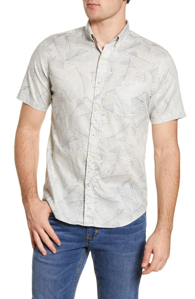 FAHERTY Everyday Regular Fit Short Sleeve Button-Down Shirt, Main, color, 101
