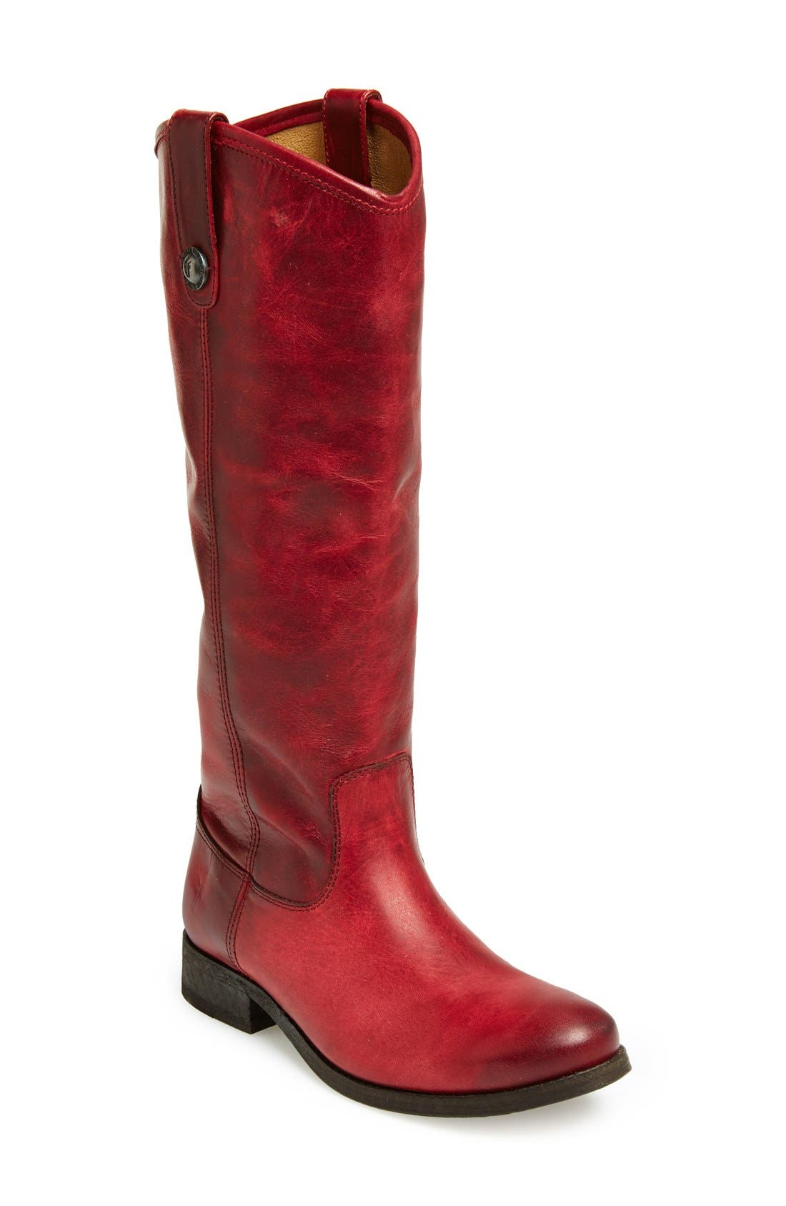 ,                             'Melissa Button' Leather Riding Boot,                             Main thumbnail 169, color,                             931