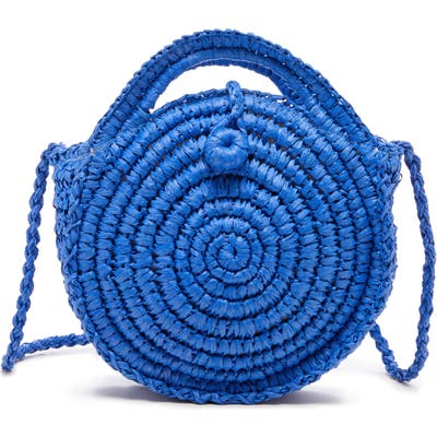 Sole Society Corby Woven Papyrus Bag - Blue