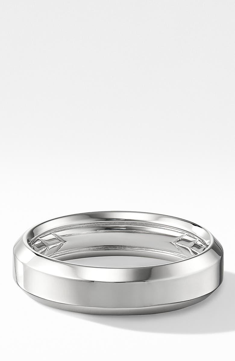 DAVID YURMAN 18K Beveled Band Ring, Main, color, WHITE GOLD