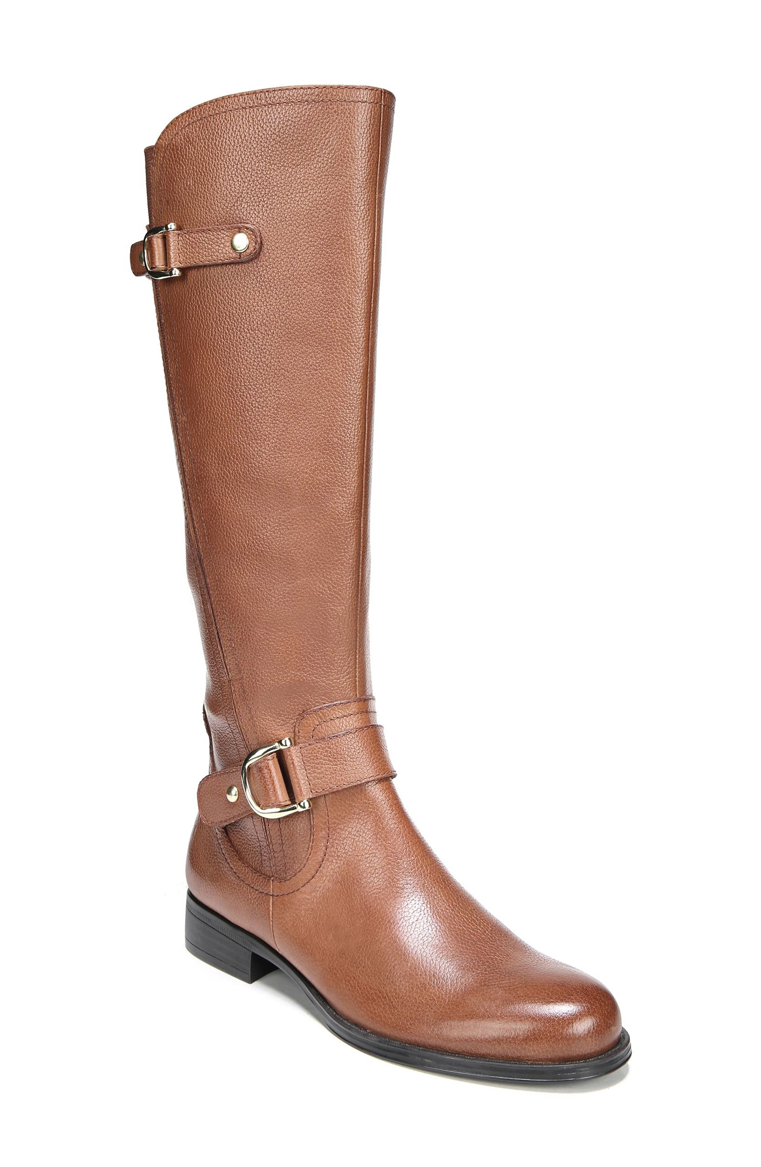 Naturalizer Jenelle Tall Boot Wide Calf- Brown