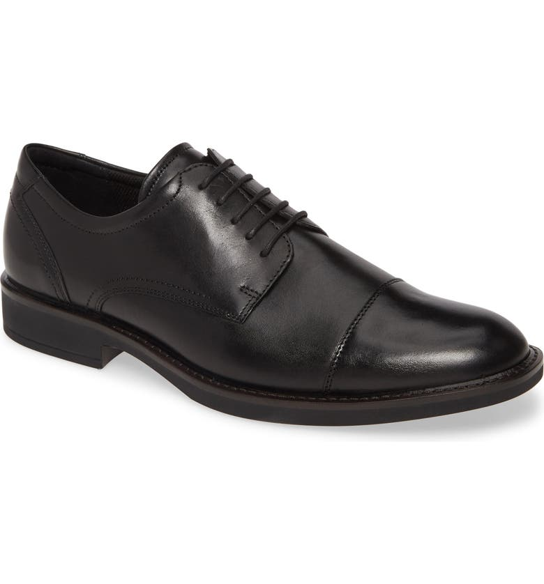 ECCO Biarritz Cap Toe Derby, Main, color, BLACK