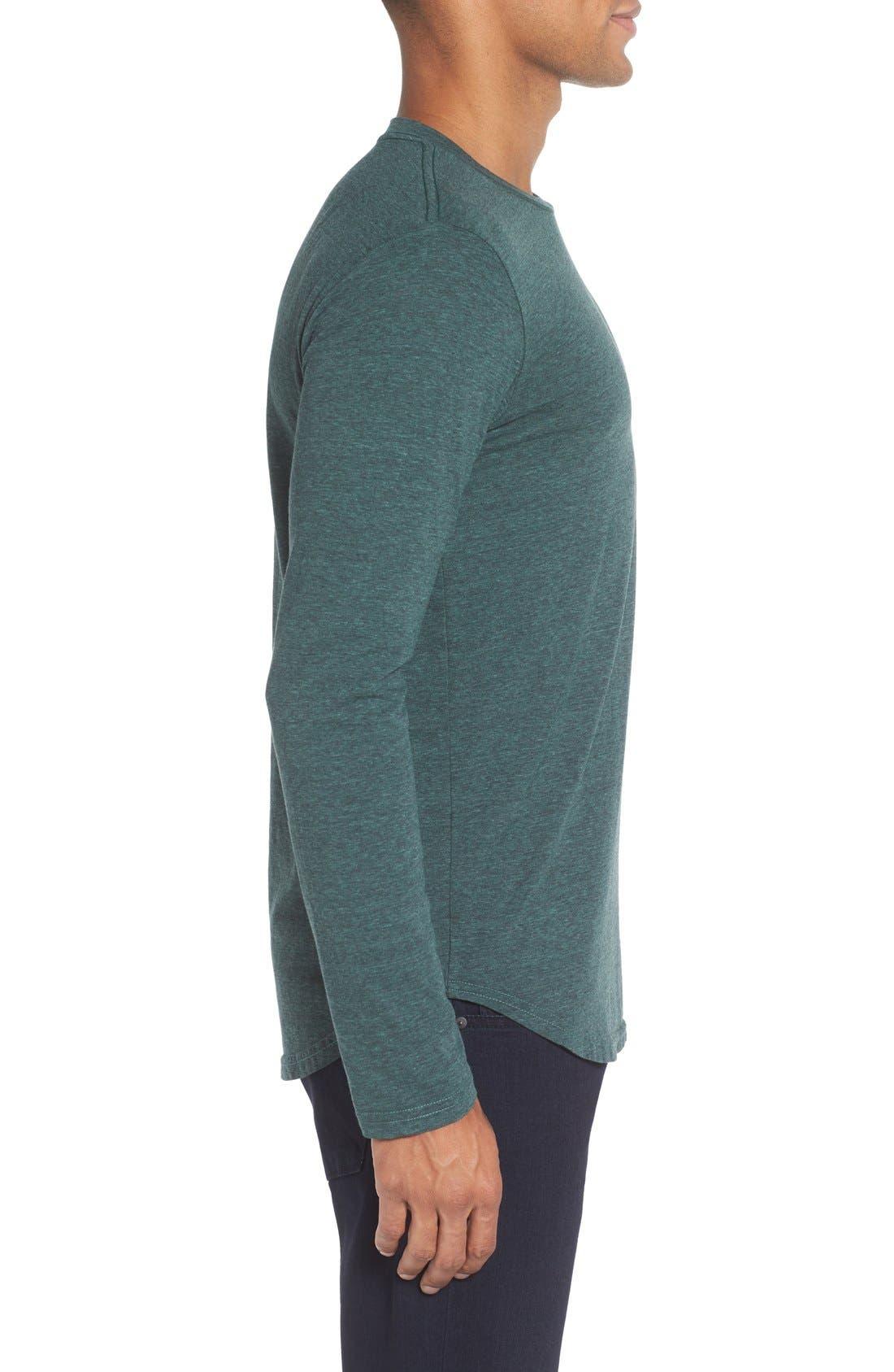 ,                             Triblend Scallop Long Sleeve Crewneck T-Shirt,                             Alternate thumbnail 22, color,                             305