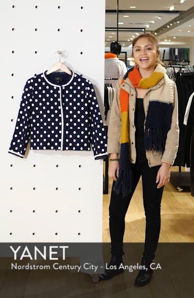 Polka Dot Textured Tweed Jacket, sales video thumbnail