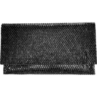 Nina Crystal Beaded Clutch - Black