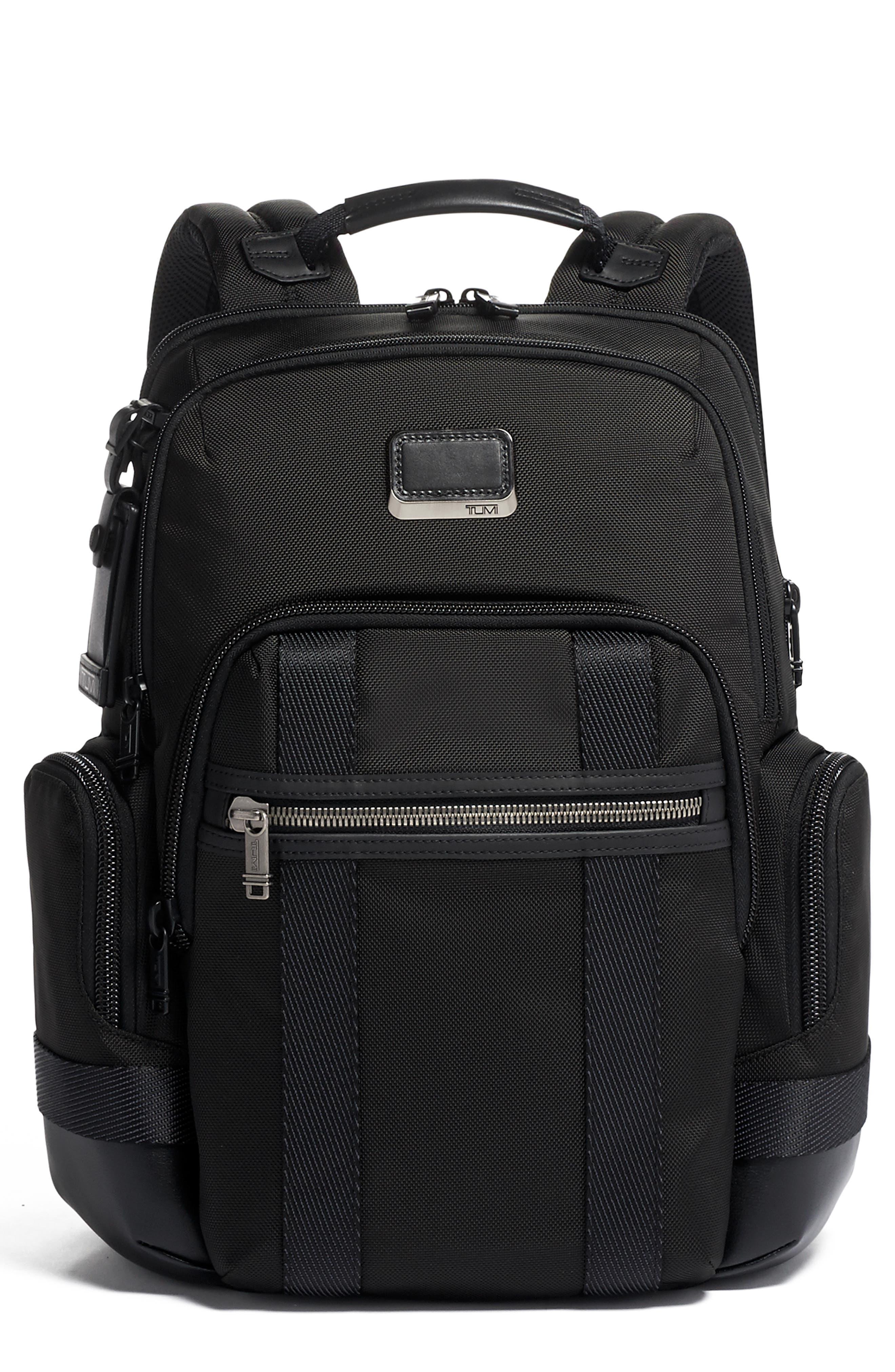 Tumi Alpha Bravo Nathan Black Expandable Backpack - Black