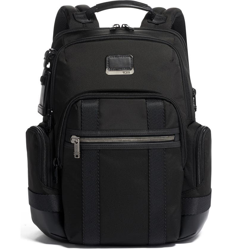 Alpha Bravo Nathan Black Expandable Backpack by Tumi