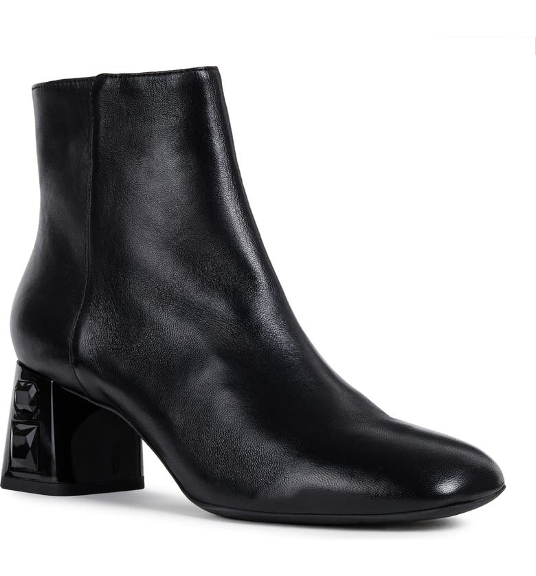 GEOX Seyla Bootie, Main, color, BLACK LEATHER