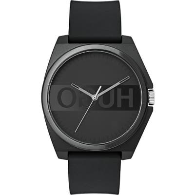 Hugo Play Rubber Strap Watch, 40Mm