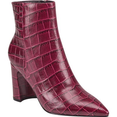 Marc Fisher Ltd Daith Pointed Toe Bootie- Red
