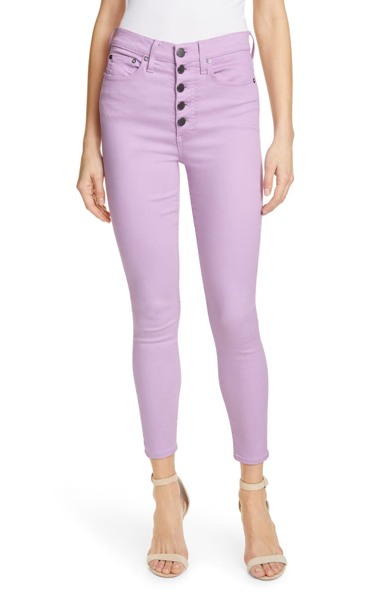 ALICE + OLIVIA JEANS Good High Waist Ankle Skinny Jeans, Main, color, ORCHID