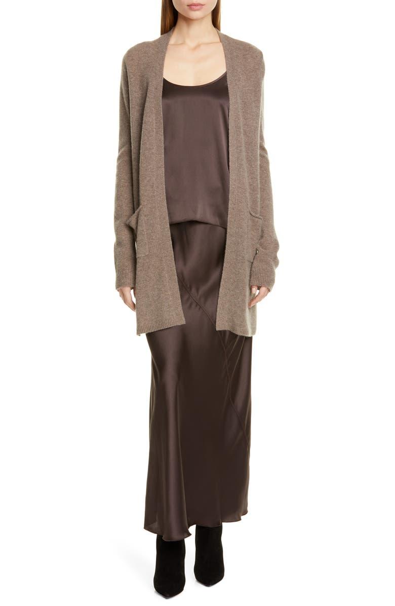ATM ANTHONY THOMAS MELILLO Silk Maxi Skirt, Main, color, DARK CHOCOLATE