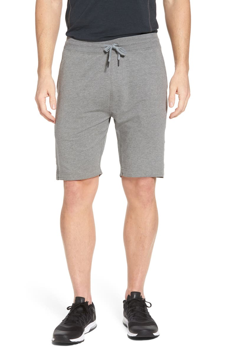 TASC PERFORMANCE Legacy Lounge Shorts, Main, color, HEATHER GREY