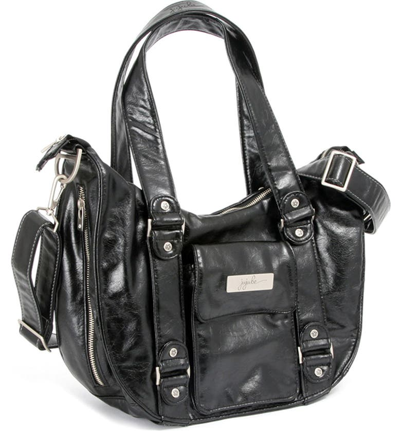 JU-JU-BE 'Legacy' Earth Leather<sup>™</sup> Faux Leather Diaper Bag, Main, color, 007
