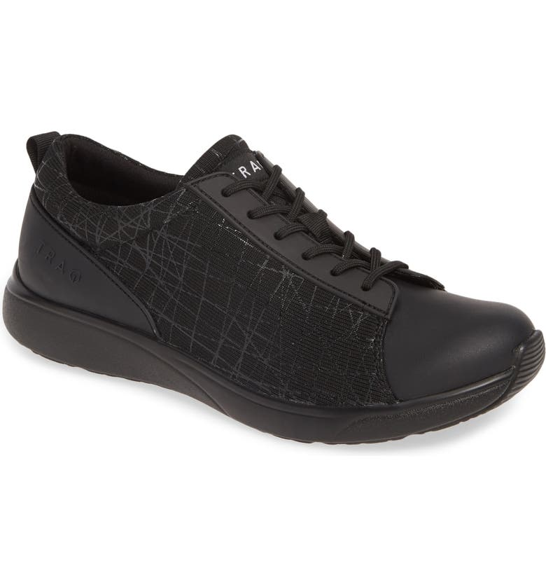 ALEGRIA Qest Sneaker, Main, color, INTERSECTION BLACK LEATHER