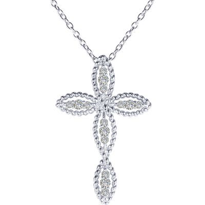 Lafonn Simulated Diamond Cross Pendant Necklace