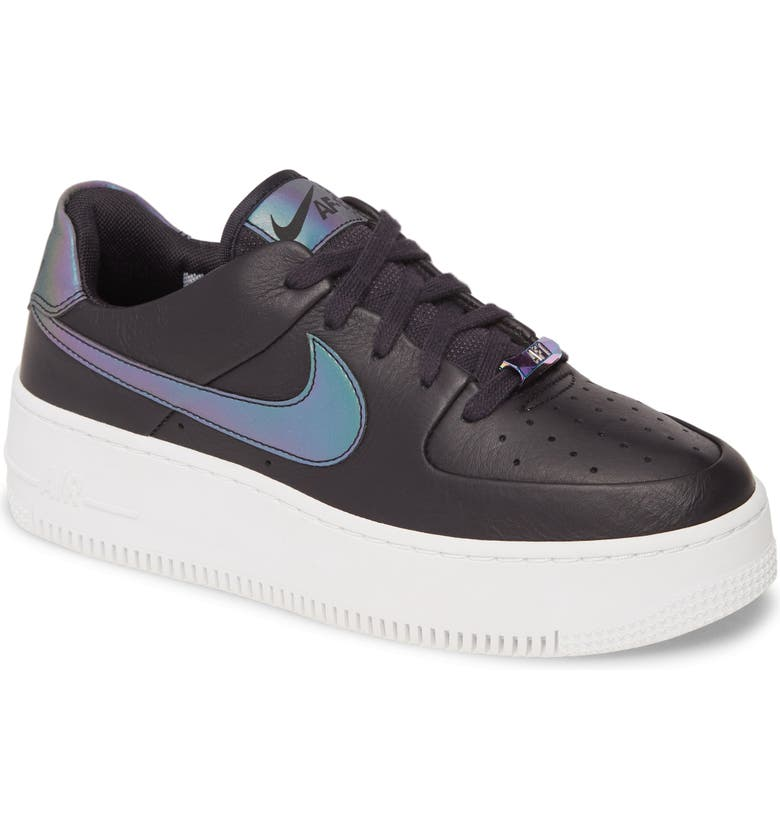 NIKE Air Force 1 Sage Low LX Sneaker, Main, color, OIL GREY/ BLANK/ WHITE