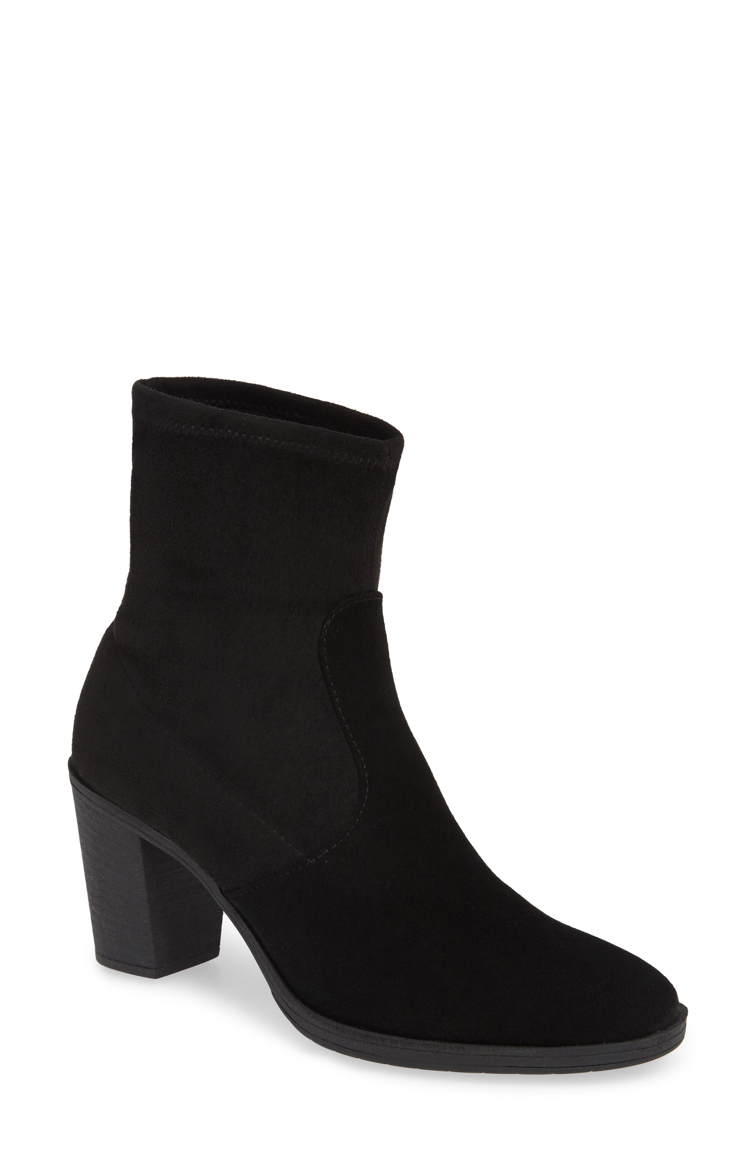 ,                             On The Rocks Bootie,                             Main thumbnail 1, color,                             BLACK SUEDE