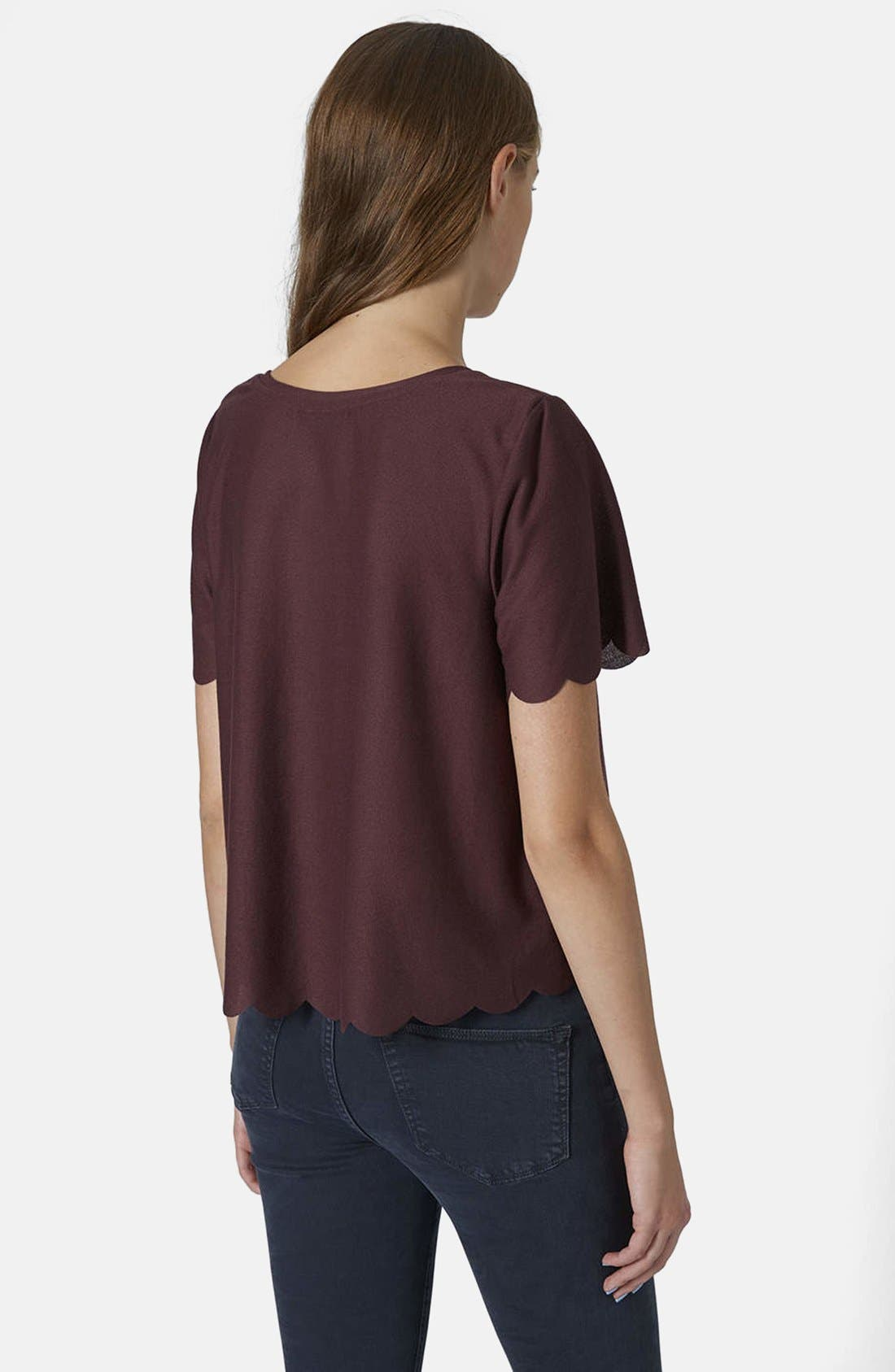 ,                             Scallop Frill Tee,                             Alternate thumbnail 41, color,                             930