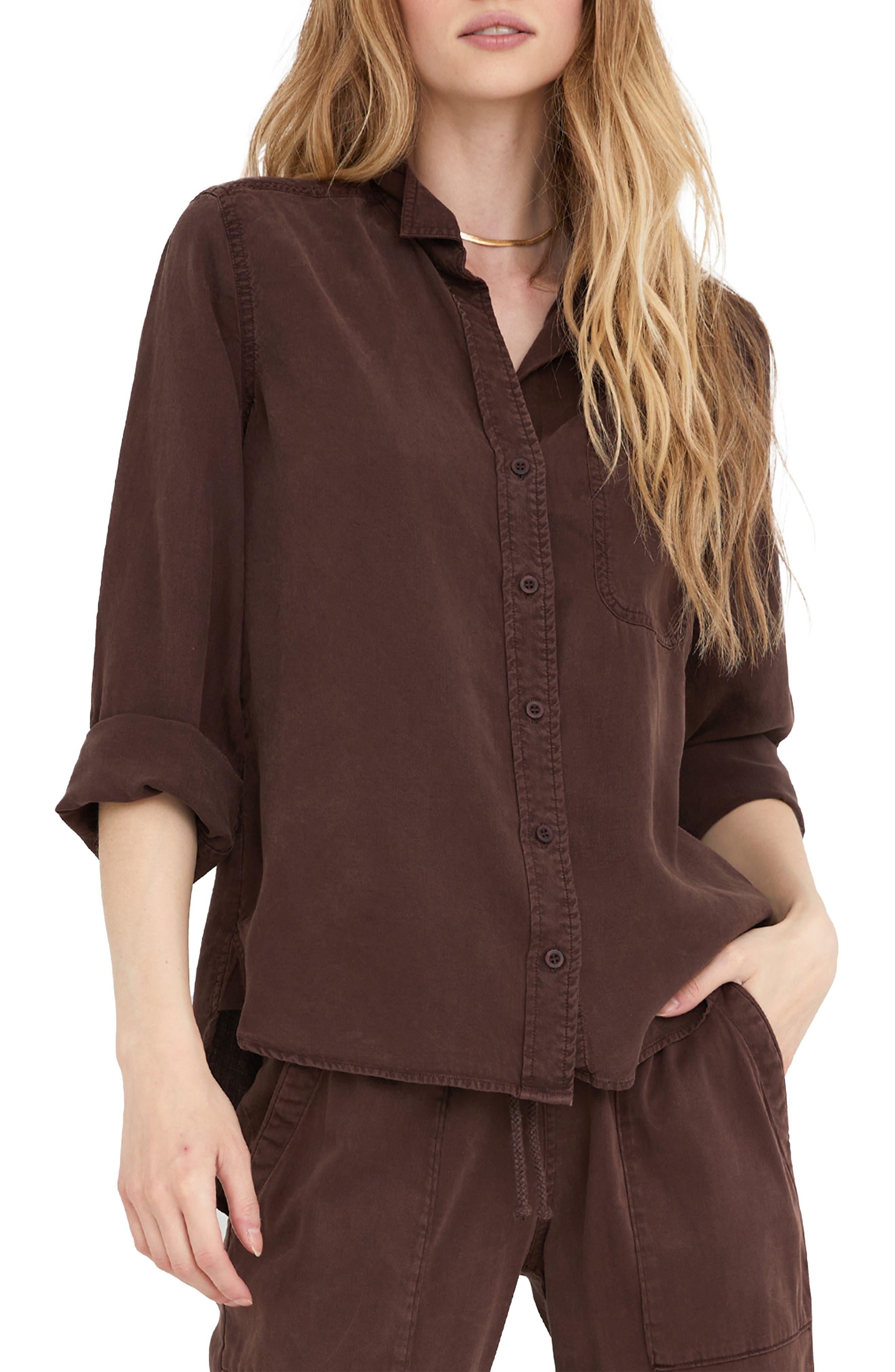 Shirttail Button-Up Shirt