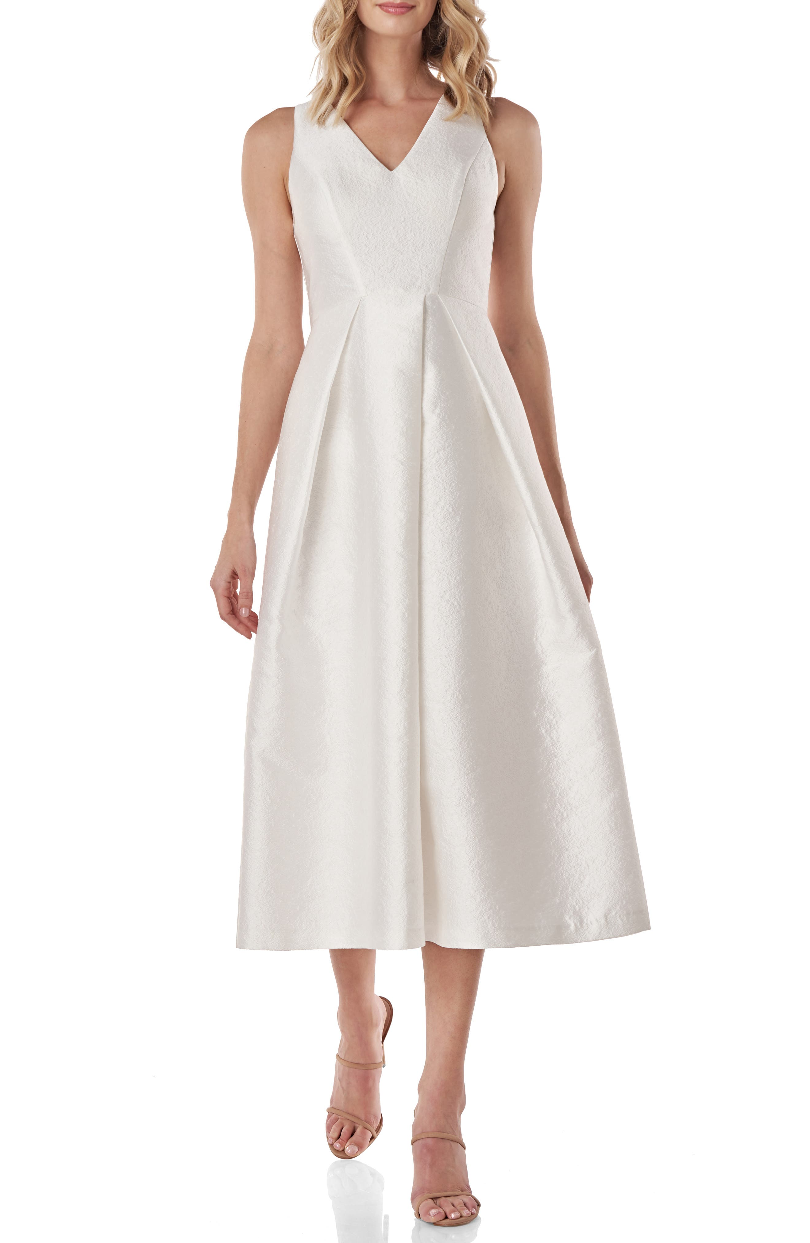 Maxime Pleat Flare Cocktail Dress