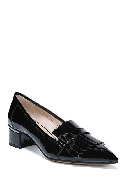 Image of Franco Sarto Grenoble Pointed Toe Block Heel Loafer