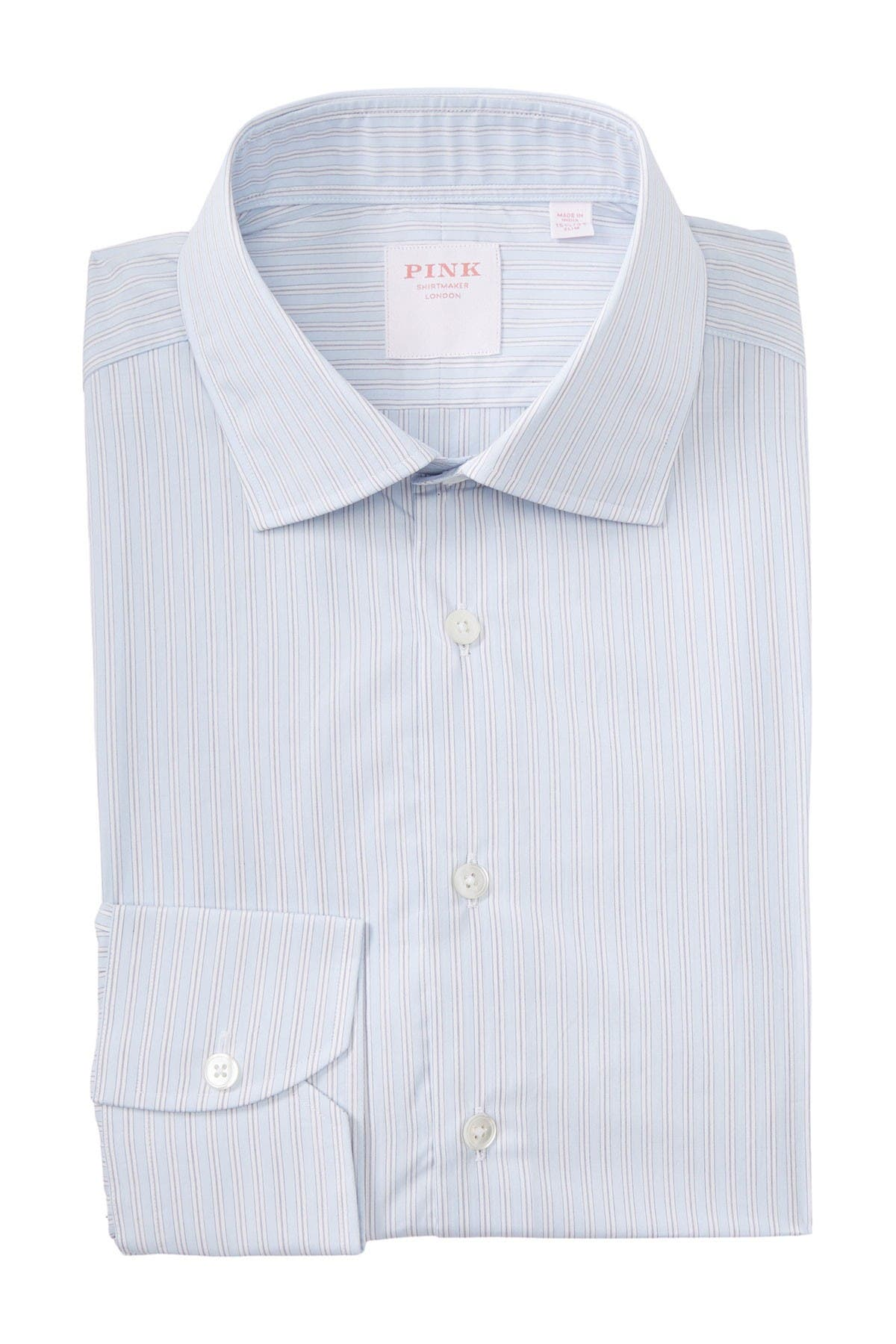 Image of THOMAS PINK Piumino Stripe Print Dress Shirt