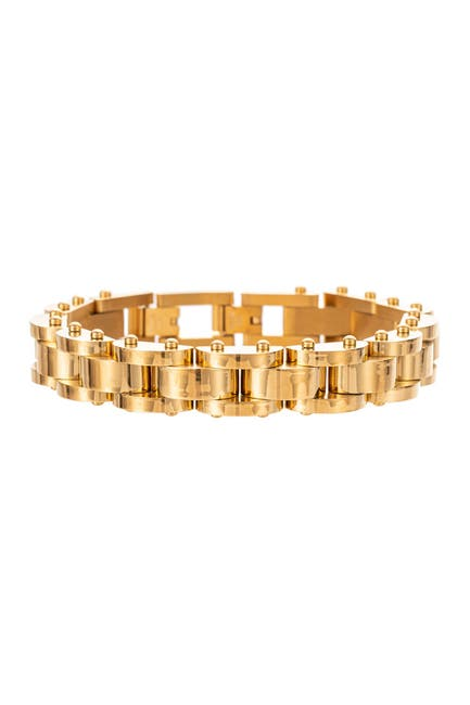 Image of Eye Candy Los Angeles Julian Titanium Chain Link Bracelet