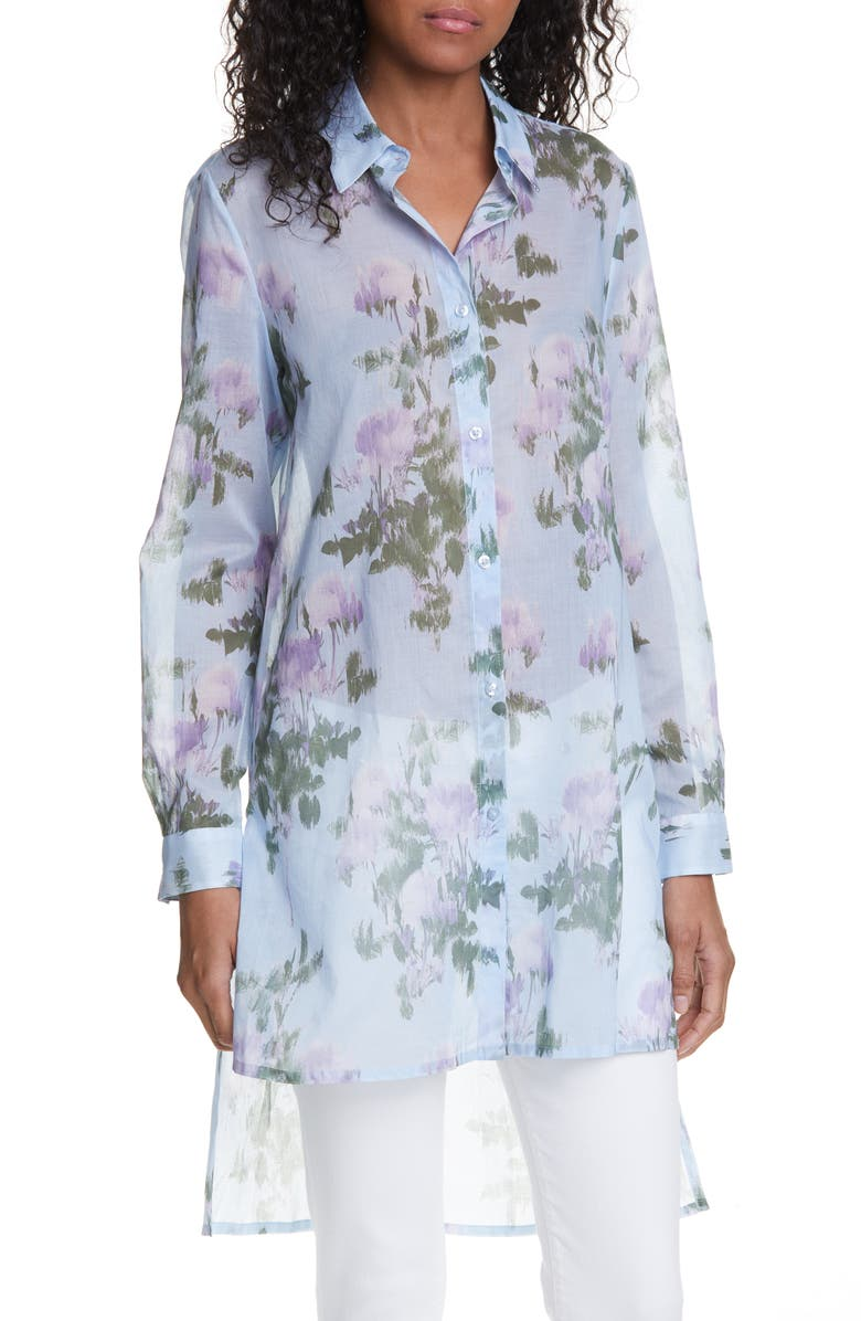 HUGO Ekale Floral Tunic Shirt, Main, color, 100