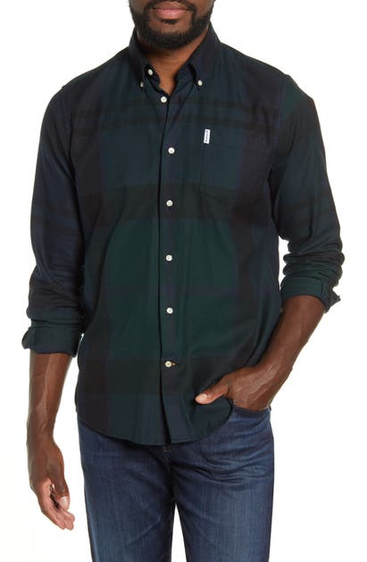 Barbour T-shirts DUNOON TAILORED FIT BUTTON-DOWN COTTON SHIRT