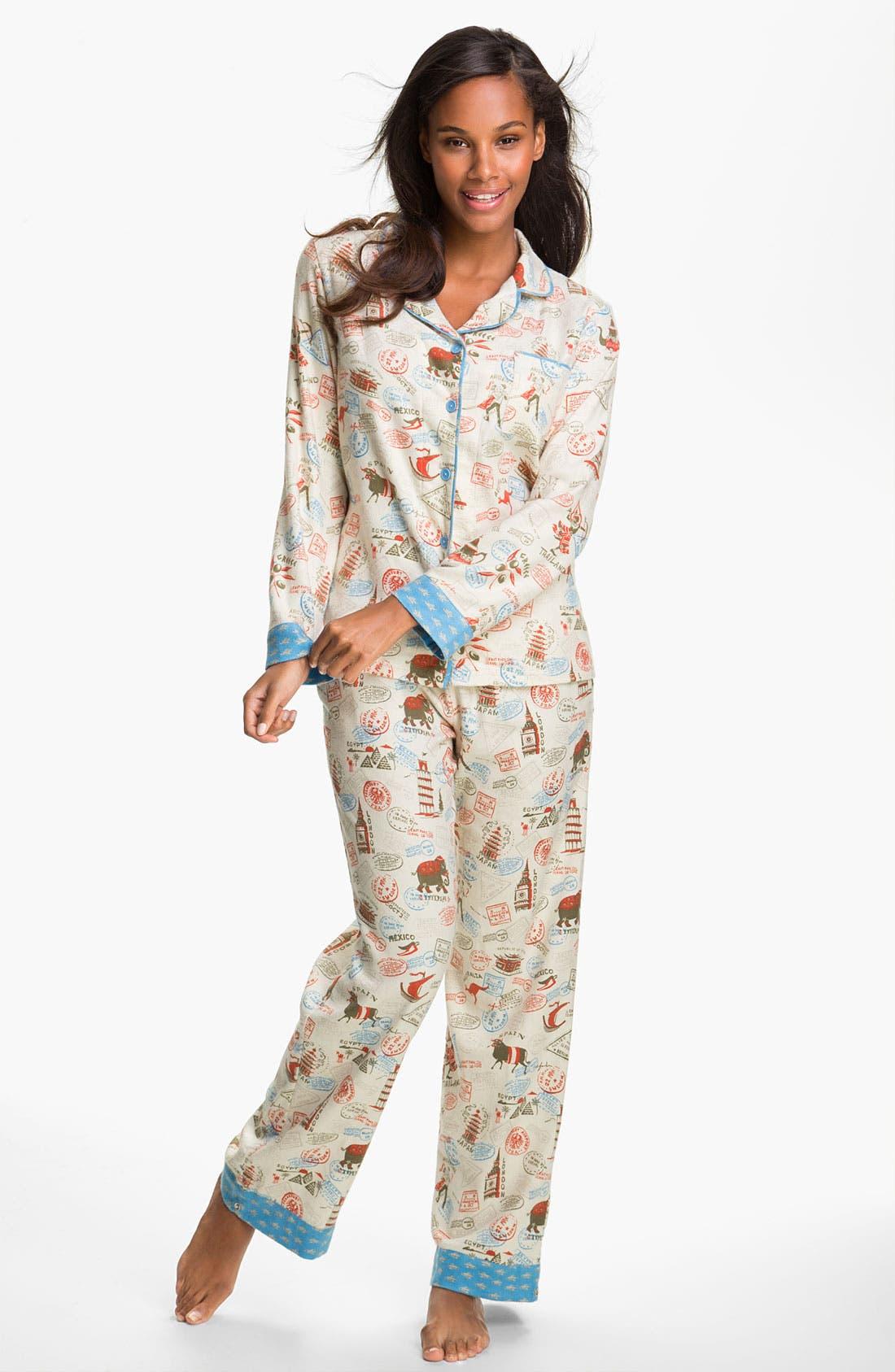 ,                             Flannel Pajamas,                             Main thumbnail 12, color,                             102