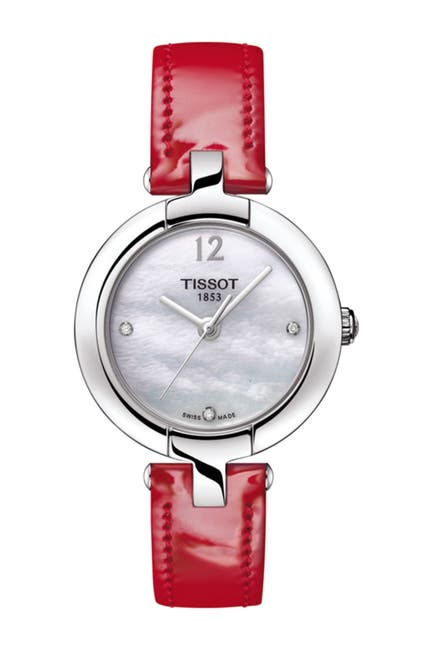 Image of Tissot Women's Pinky Leather Watch, 27.95mm
