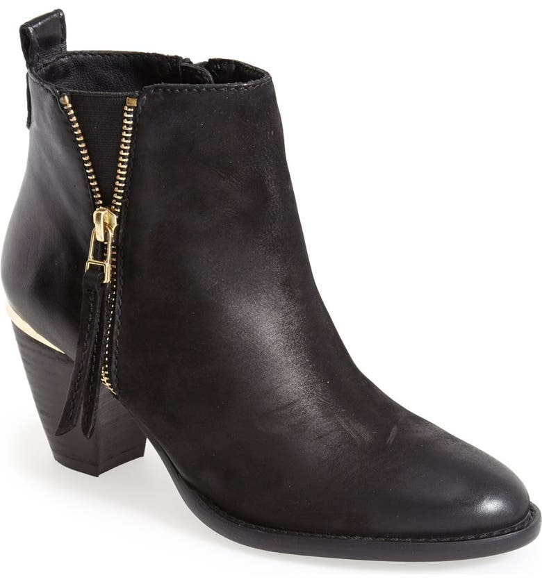 STEVE MADDEN 'Wantagh' Leather Ankle Boot, Main, color, 001
